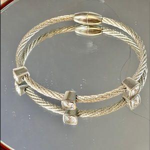 Bracelet silver and Crystal
